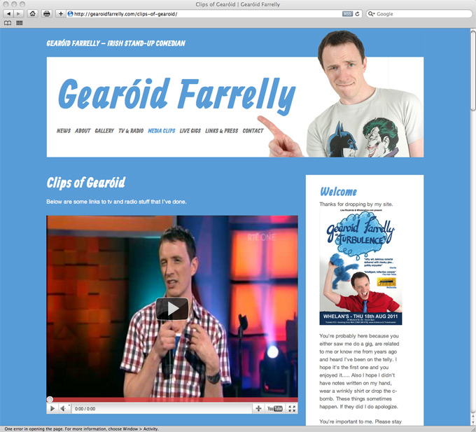 Gearoid Farrelly website
