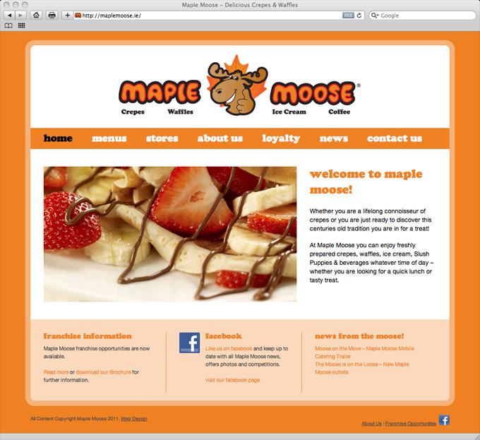maple moose website design